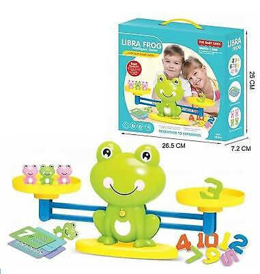 Frog Numbers Balance Scale Game For Kids Math Preschool Learning Educational Toy • 12.95£