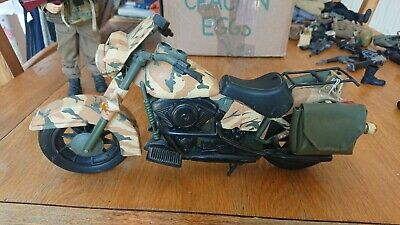 Vintage Action Man Dragon Figure 1:6 Military  Harley Davidson Motorcycle • 50£