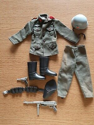 Vintage Palitoy Action Man German Stormtrooper Uniform Holster Luger (1967-1977) • 55£