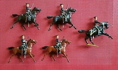 Britains Royal Army Service Corps Mounted ???? Officer And 4 Men • 60£
