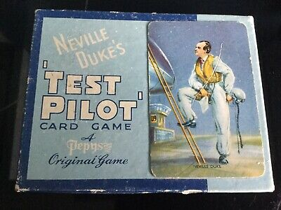 Neville Dukes Test Pilot Card Game By Pepys • 9.50£