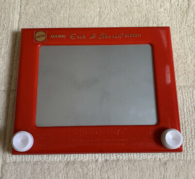Retro Vintage Red Magic Etch A Sketch Screen - Mattel - Classic Toy • 15£