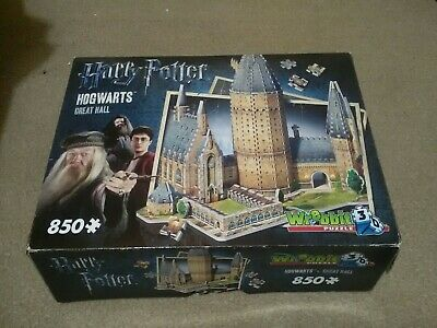 Wrebbit Harry Potter Great Hall 850pc 3D Puzzle, Used • 9.50£
