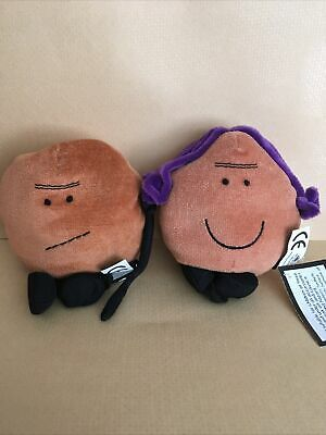Bean World Old Man And Old Lady Plush Beanies • 5£