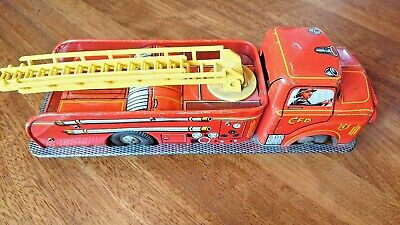 Marx Toys Tin Plate Friction Powered Fire Truck Vintage  • 55£