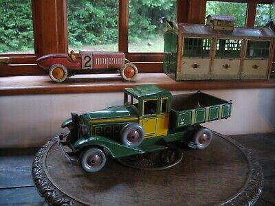 Rare Early Charles Rossignol Tinplate Tipper Truck France Wind Up Tin Toy No Car • 845£