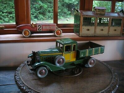 Rare Early Charles Rossignol Tinplate Tipper Truck France Wind Up Tin Toy No Car • 825£