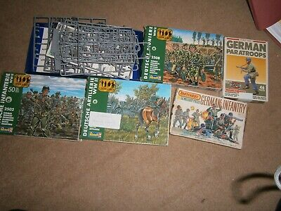 Lot 47:Airfix/ Revell/ Hasegawa 1:72 Scale German WW2 Soldiers - Mixed Wargaming • 7.99£