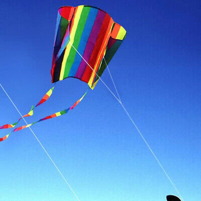 Colorful Outdoor Parafoil Long Tail Flying Kite Line Adults Children Gift Games • 5.99£