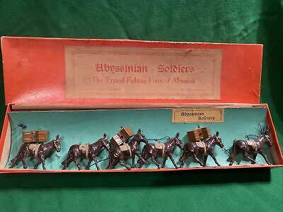 Johillco Abyssinian Mules RARE Soldier Army Diecast- Mules Only Boxed • 16£