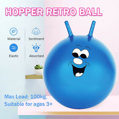 Large Space Hopper Retro Ball Exercise Indoor Outdoor Bounce Jump Toy Kids Adult • 7.49£