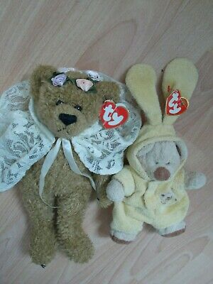 Vintage 1993 Ty Attic Treasure Bear Eve & 2004 Ty Baby Collection Bear • 2.50£