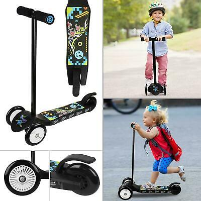 Kids Micro Scooter For Boys Girls Push Kick 3 Wheel Adjustable Folding Bar • 17.95£