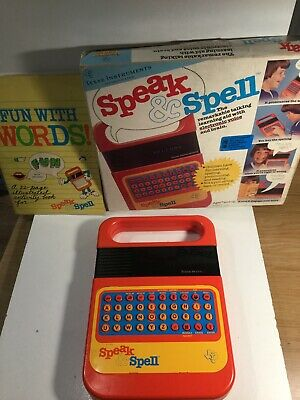 Vintage Speak And Spell Raised Buttons In Box , Working. Read Listing • 89£