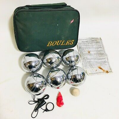 6 French Ball Stainless Steel Boules Set Petanque Outdoor Garden Game • 12.95£
