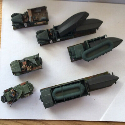 20mm WW2 British Boat / Dinghy Transportation With Escort 6 Vehicles • 12.08£