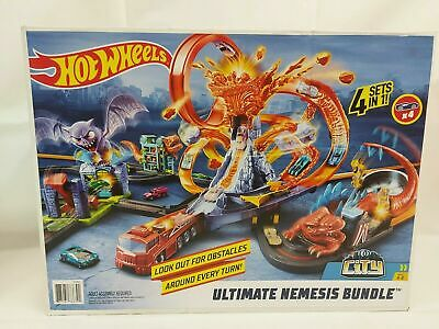 Hot Wheels City Ultimate Nemesis Bundle 4 In 1 Track Sets Volcano Escape New. • 49£