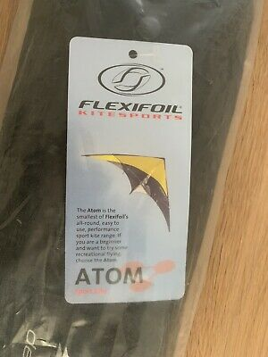 Rare Atom 140 Sport Stunt Kite Designed By Carl Robertshaw & Built By Flexifoil • 149.99£