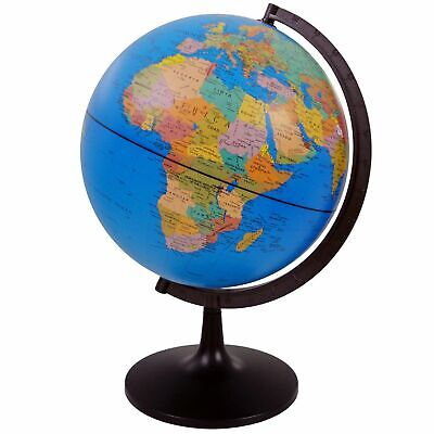 32 Cm Globe World Map Atlas Revolving With Stand Educational Uk Seller • 25.99£
