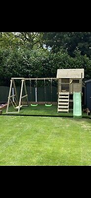 Kids Wooden Swing & Playhouse Set • 600£