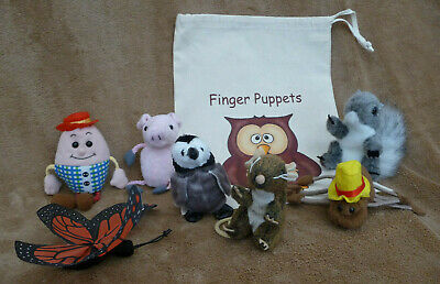 7 Finger Puppets And Drawstring Cotton Bag • 4.20£