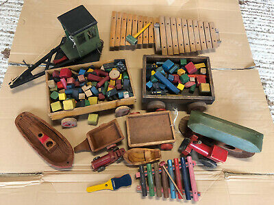 Collection Of Vintage Wooden Toys • 50£