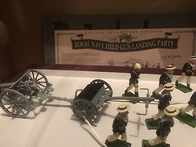 Britains 8898 The Royal Navy Field Gun Landing Party Special Collectors Edt 1997 • 41£