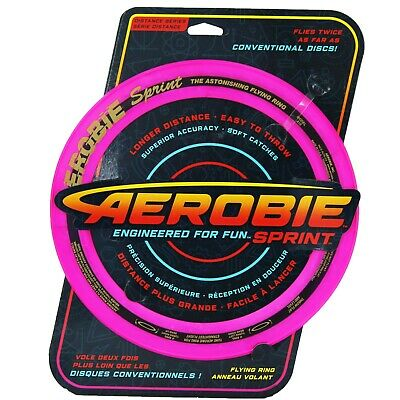 Aerobie Sprint Flying Ring Disc 25cm Outdoor Frisbee Fly Toy Soft Catch Game Dog • 8.99£