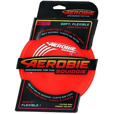 Aerobie Squidgie Flexible Frisbee Soft Flying Ring Disc Outdoor Fetch Toy Dog • 7.99£