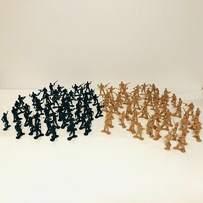 Large Bundle Of 100+ Toy Plastic Soldiers Army Military Men • 4.99£
