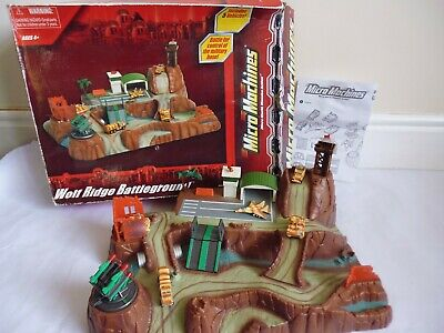 Vintage Micro Machines Military Wolf Ridge Battleground Playset 2003 Boxed • 49.99£