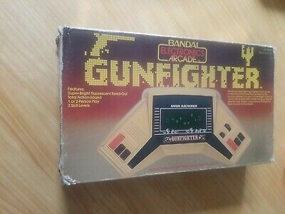 RARE BANDAI Gunfighter Electronic Handheld Tabletop Game WORKING. • 55£