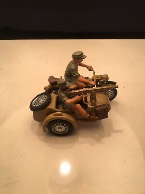 Britains Deetail Motorbike Combination Africa Korps Mint • 34.99£