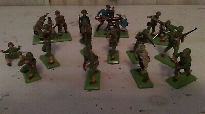 Britains Deetail Army WW2 Infantry Soldiers Mortar And Gatling Gun Job Lot • 23£