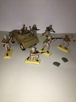 Britains Deetail 8th Army Scout Car And Troops Mint 100% Original • 49.99£