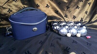 French  OBUT  JOB LOT Of Carbon Alloy Steel Boules 73mm + Fiore Carriage Bag • 50£