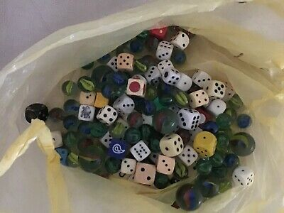 Job Lot Vintage Glass Marbles & Dice • 4.99£