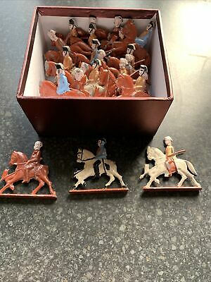 25 X Hand Painted Lead Soliders On Horseback Figures • 15£