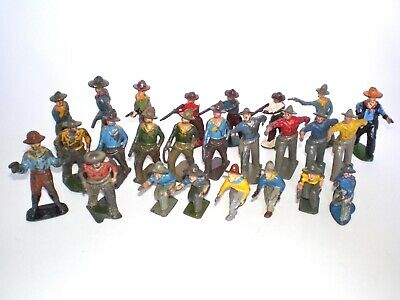 JOHILLCO, BRITAINS Vintage COWBOYS WILD WEST Metal  Figures Lead Toys • 6.50£