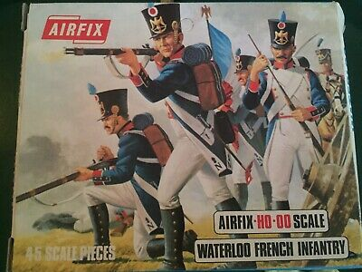 Vintage Airfix HO-OO SCALE Waterloo French Infantry 1:72 Complete • 12£