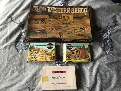 Timpo Western Ranch Bunk House Corral Accessories Boxes Only And Card Play Base  • 9.99£
