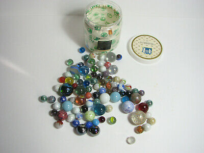 Vintage British And US Made Marbles ( 88 ), Boots Branded, In Original Container • 15£