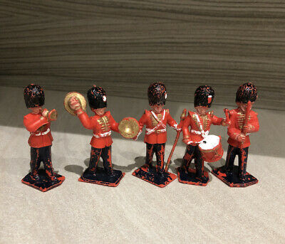 VINTAGE LONE STAR Harvey Series GUARDS. SOLDIER BANDSMEN Plastic Figures X 5 • 5£