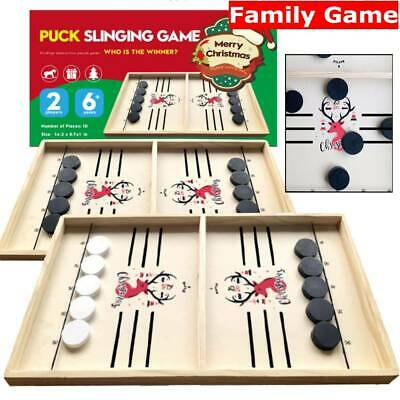 Wooden Hockey Game Table Game Family Fun Game For Kids Children Christmas Gift • 19.66£