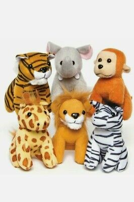 Jungle Animals Plush Toys Pack Of 6 Baker Ross • 11.99£