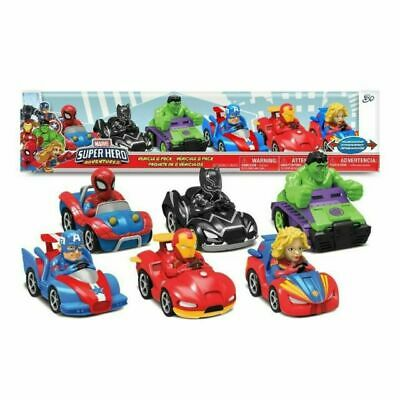 Marvel COS1280456 Super Hero Adventures Pull-Back Action Toy Vehicle - 6 Pieces • 23.49£