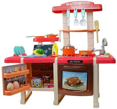 Large Realistic Kids Kitchen Set - With Lights And Sounds • 34.99£
