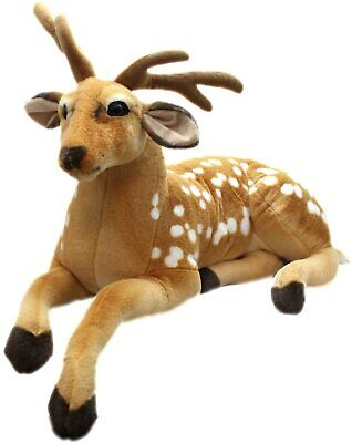 New Medium  Cuddly Deer Reindeer Animal Plush Soft Stuffed Toy UK SELLER FAST • 12.99£