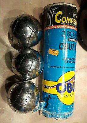 3 OBUT ATC  Petanque Competition French Boules. Vintage.  • 69£