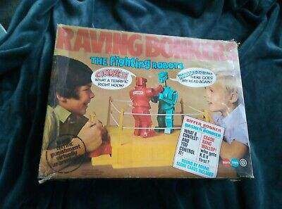 Marx Toys Raving Bonkers The Boxing Fighting Robots Boxing Game 1972 • 45£